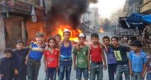 أطفالٌ ينفذون حظرًا جويًّا في حلب