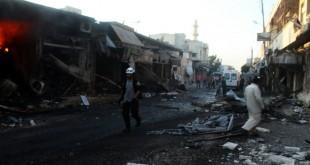 إصابات في مركز للدّفاع المدني إثر غارة روسية على مدينة سراقب