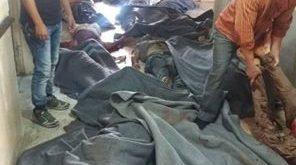 """قوات الأسد ترتكب """"مجزرة"""" بحق مدنيين إثر قصف جوّي استهدف مدرسة في بلدة حاس بريف إدلب"""
