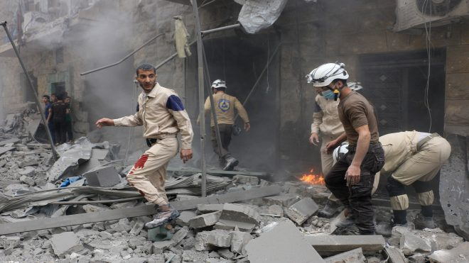 Russian war crafts hit Aleppo's Bustan al Qasr