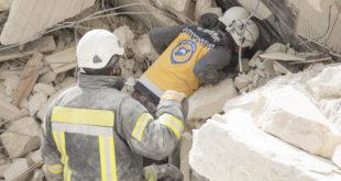 البحث عن عالقين بعد غارة جوية على إدلب- عامر السيد علي