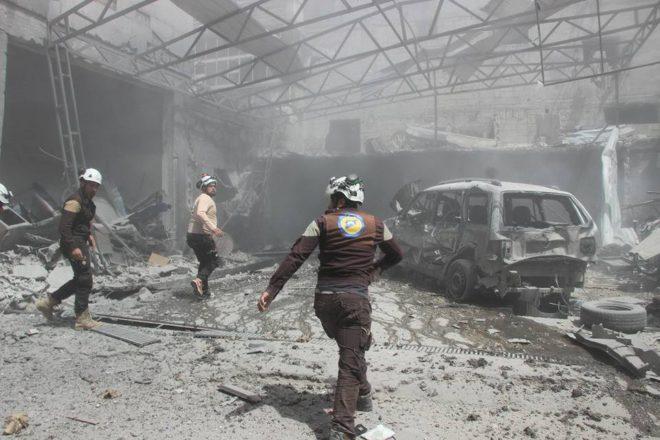 النظام واصل القصف على إدلب - الدفاع المدني