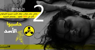 """""""حاسبوا الأسد"""".. حملة تدعو لمحاسبة النظام السوري لاستخدامه السلاح الكيميائي"""