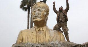 النظام يستفز السوريين: تجهيزات لإعادة تمثال حافظ الأسد إلى درعا مهد الثورة
