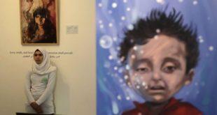 حنين أطفال سوريين شردتهم الحرب ترويه أعمال فنية في بيروت