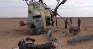 الجبهة الوطنية للتحرير تعلن إصابة مروحيتين للنظام بحماة