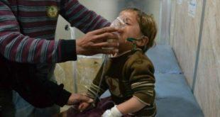 اختناق أطفال ونساء بقصف غاز سام للنظام على الغوطة