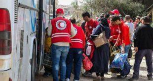 صول أولى دفعات المهجرين من حرستا إلى الشمال السوري