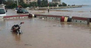 أربعة مليارات خسائر بسبب عاصفة في طرطوس الشهر الماضي
