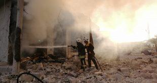 خمسة وأربعون قتيلا وجريحا بالقصف الروسي على كفريا