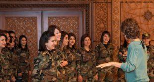 """من هنَّ """"ضفائر النار"""" الذين التقتهنَّ أسماء الأسد أمس؟"""