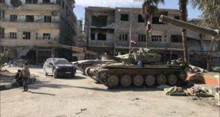 قوات النظام تدخل حرستا وتبدأ بتمشيطها