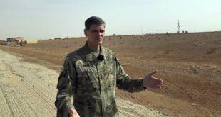 قائد عمليات الجيش الأمريكي في الشرق الأوسط يزور قاعدة التنف