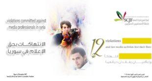226 انتهاكاً بحق الصحفيين في سوريا خلال عام 2017