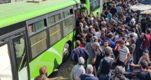 القافلة الثانية من مهجري درعا والقنيطرة تنطلق باتجاه إدلب